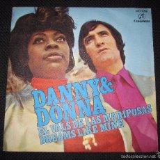Discos de vinilo: SINGLE. DANNY & DONNA. EL VALS DE LAS MARIPOSAS. DREAMS LIKE MINE.. Lote 60992311