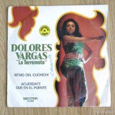 Discos de vinilo: SINGLE BELTER DOLORES VARGAS LA TERREMOTO RITMO DEL CUCHICHI JOSE RUMBA LATIN PERET. Lote 60996095