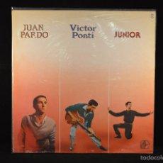 Discos de vinilo: JUAN PARDO, VICTOR PONTI Y JUNIOR - LP HISTORIA DE LA MUSICA POP ESPAÑOLA - LP. Lote 61019487