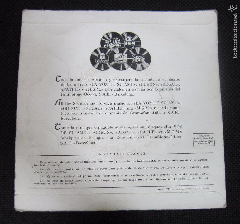 Discos de vinilo: SINGLE. LA VOZ DE SU AMO. PIANO Y ORQUESTA SINFÓNICA DE LONDRES. EL SUEÑO DE OLWEN. - Foto 2 - 61020507