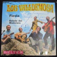 Discos de vinilo: SINGLE. LOS VALLDEMOSA. FIESTA. BALADA DEL MADERO. . Lote 61022267