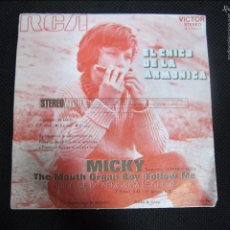 Discos de vinilo: SINGLE. MICKY. EL CHICO DE LA ARMONICA. THE MOUTH ORGAN BOY.. Lote 61024207