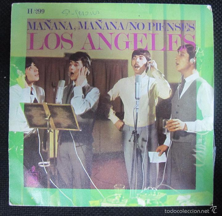 SINGLE. LOS ANGELES. MAÑANA, MAÑANA/NO PIENSES. (Música - Discos - Singles Vinilo - Grupos Españoles 50 y 60)