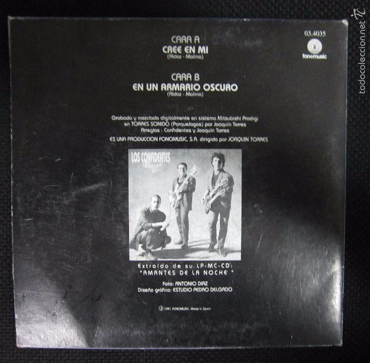 Discos de vinilo: SINGLE. LOS CONFIDENTES. CREE EN MI. - Foto 2 - 61027275