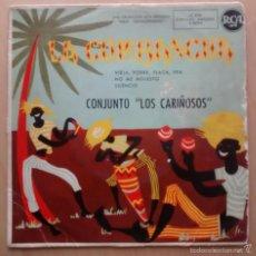 Discos de vinilo: CONJUNTO LOS CARIÑOSOS - LA CUMBANCHA - EP / 1958. Lote 61073607