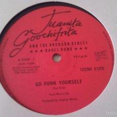 Discos de vinilo: JUANITA GOOCHIFRITA AND THE ORCHARD STREET BAGEL BAND - GO FUNK YOURSELF - 1980. Lote 61087715