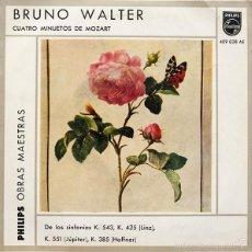 Discos de vinilo: BRUNO WALTER - CUATRO MINUETOS DE MOZART / EP. Lote 61092003