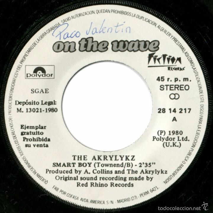Discos de vinilo: The Akrylykz (On The Wave) – Smart Boy - Sg Promo Spain 1980 - Polydor 28 14 217 - Foto 4 - 61110875