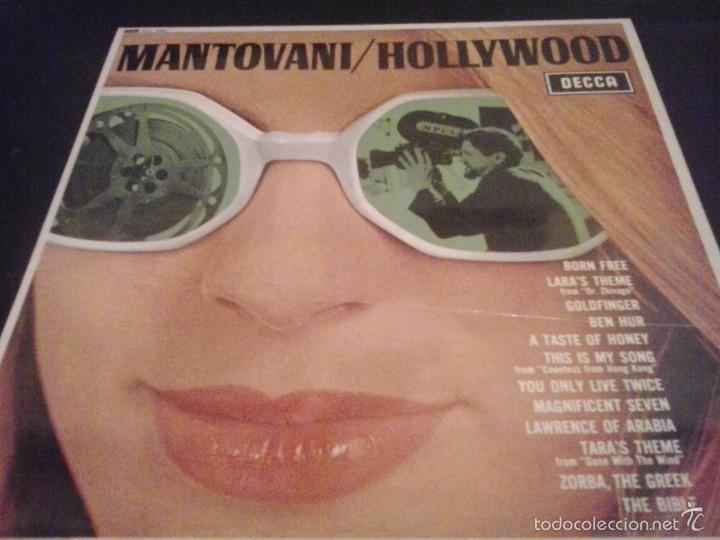 MANTOVANI HOLLYWOOD LP 1967 DECCA (Música - Discos - LP Vinilo - Orquestas)