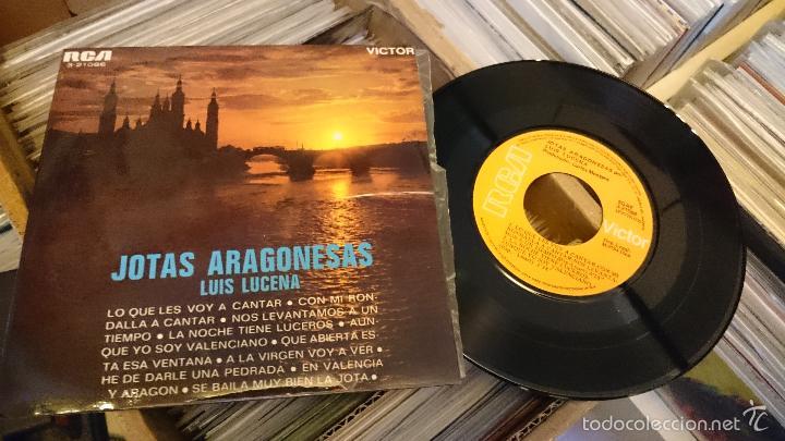 JOTAS ARAGONESAS LUIS DE LUCENA EP DISCO DE VINILO SINGLE RCA (Música - Discos de Vinilo - EPs - Otros estilos)