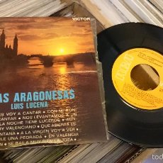 Discos de vinilo: JOTAS ARAGONESAS LUIS DE LUCENA EP DISCO DE VINILO SINGLE RCA . Lote 61124223