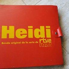 Discos de vinilo: CARPETA DE DISCOS DE HEIDI RTVE. Lote 61135087