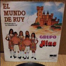 Discos de vinilo: GRUPO NINS. EL MUNDO DE RUY. SERIE TV. SINGLE / BELTER - 1980 / MBC. **/***. Lote 61151767