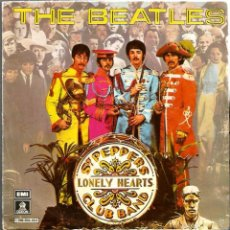 Discos de vinilo: SG THE BEATLES : SERGEANT PEPPER´S LONELY CLUB BAND + WHITIN YOU WITHOUT YOU. Lote 61163783