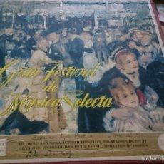 Discos de vinilo: COLECCION GRAN FESTIVAL DE MUSICA SELECTA. 12 DISCOS LP CON SU ESTUCHE Y LIBRETO DE 25 PAGINAS . Lote 61167139