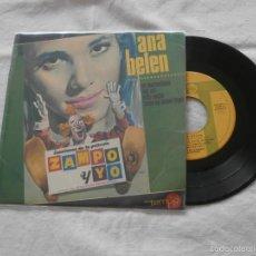 Discos de vinilo: ANA BELEN (ZAMPO Y YO) 7´EP ES MARAVILLOSO + 3 TEMAS (1965) BUENA CONDICION. Lote 61172703