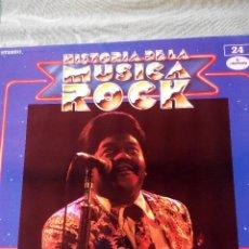 Discos de vinilo: FATS DOMINO - LP VINILO -HISTORIA DE LA MÚSICA ROCK Nº 24. Lote 61186267