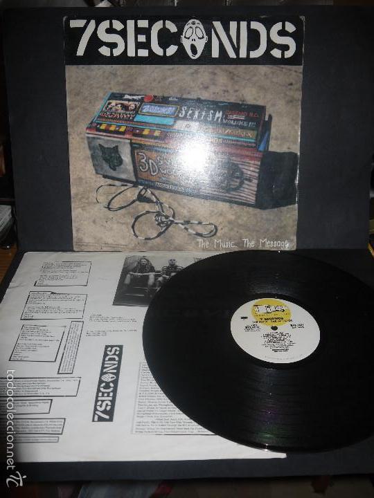 7 SECONDS- THE MUSIC, THE MESSAGE, VINILO MUY DIFICIL. (Música - Discos - LP Vinilo - Punk - Hard Core)