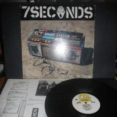Discos de vinilo: 7 SECONDS- THE MUSIC, THE MESSAGE, VINILO MUY DIFICIL.. Lote 61215527