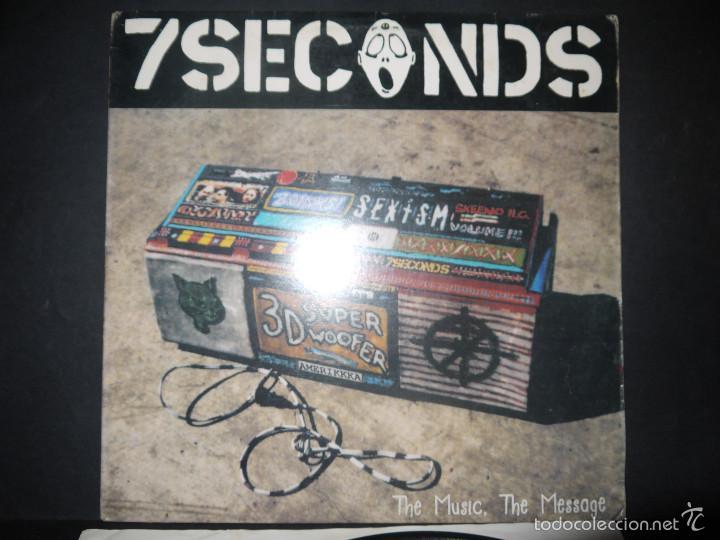 Discos de vinilo: 7 SECONDS- THE MUSIC, THE MESSAGE, VINILO MUY DIFICIL. - Foto 2 - 61215527