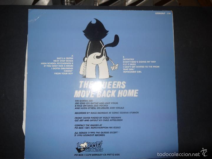 Discos de vinilo: THE QUEERS - MOVE BACK HOME, VINILO LOOKOUT RECORDS. - Foto 3 - 61226771