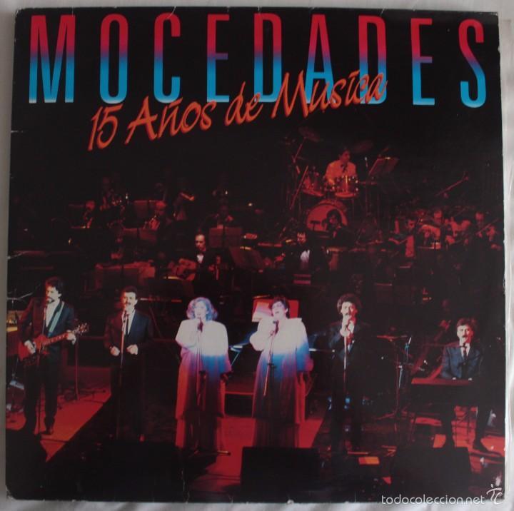 DISCOS VINILO LP (2) 15 AÑOS DE MÚSICA - MOCEDADES - (Música - Discos - LP Vinilo - Grupos Españoles de los 70 y 80)