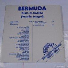 Discos de vinilo: BERMUDA - DISC - O - BAMBA - LP. TDKDA13. Lote 61262951