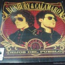 Discos de vinilo: MUSICA LP BUNBURY & CALAMARO HIJOS DEL PUEBLO + CD PRECINTADO OR. Lote 61273223