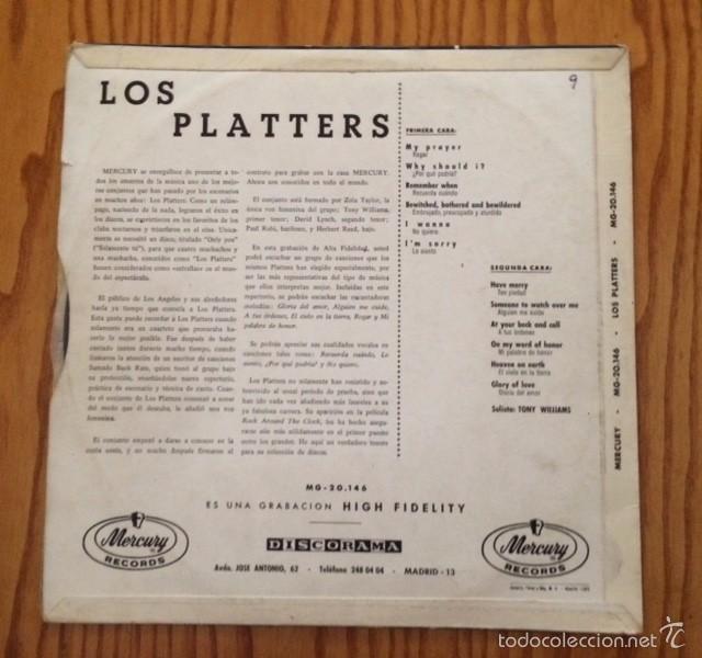 Discos de vinilo: THE PLATTERS - THE PLATTERS - LP - MONOAURAL - VINILO - Foto 2 - 61277735