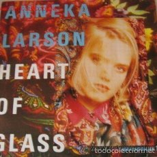 Discos de vinilo: ANNEKA LARSON - HEART OF GLASS ( WHO´S THAT GIRL-MIX ) - MAXI-SINGLE GERMANY 1990. Lote 61311767