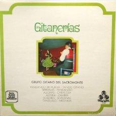 Discos de vinilo: GRUPO GITANO DEL SACROMONTE GITANERIAS LP TREBOL 1966. Lote 61317579