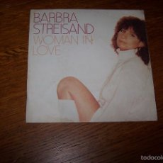 Discos de vinilo: SINGLE BARBRA STREISAND. WOMAN IN LOVE.. Lote 61321555