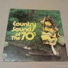 Discos de vinilo: VARIOS - COUNTRY SOUNDS OF THE 70' (LP 1971, COLUMBIA MUSICAL TREASURY1P 6355). Lote 61322743