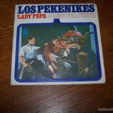 Discos de vinilo: SINGLE LOS PEKENIKES. LADY PEPA, ARENA CALIENTE.. Lote 61323695
