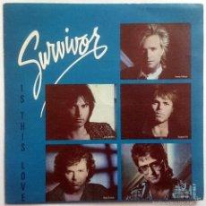 Discos de vinilo: SURVIVOR: IS THIS LOVE, SINGLE PROMO EPIC / SCOTTI BROTHERS SCT 650 195 7, SPAIN, 1986. VG+/VG+. Lote 61326215