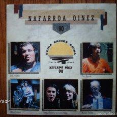 Discos de vinilo: NAFARROA OINEZ - 90 - OSKORRI ETA LAGUNAK ( IÑAKI PERURENA, MIGUEL INDURAIN, KUKO ZIGANDA .). Lote 61329635