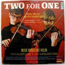 Discos de vinilo: MUSIC MINUS ONE, VIOLIN DUETS - HAYDN, TELEMANN, BOCCHERINI, LECLAIR - LP MMO 1970 BPY. Lote 61332451