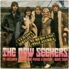 Discos de vinilo: THE NEW SEEKERS - ME GUSTARÍA ENSEÑAR AL MUNDO A CANTAR... (COCA-COLA) - SG SPAIN 1971 - 2ª ED.. Lote 61335099
