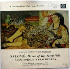 Discos de vinilo: FRITZ REINER SINFONICA CHICAGO - RICHARD STRAUSS - ZARATHUSTRA / SALOME - LP RCA 1955 BPY. Lote 61349297