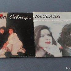 Discos de vinilo: BACCARA LOTE 2 SINGLES. Lote 61357481