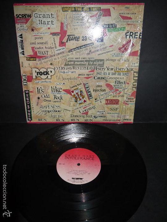 GRANT HART - INTOLERANCE , VINILO 1989. (Música - Discos - LP Vinilo - Punk - Hard Core)