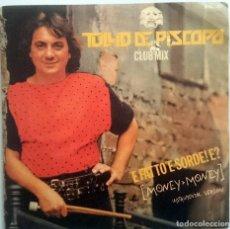 Discos de vinilo: TULLIO DE PISCOPO: E FATTO E SORDE! E?, SINGLE PROMO BLANCO Y NEGRO BNS 141, SPAIN, 1986. VG+/VG+. Lote 61393563
