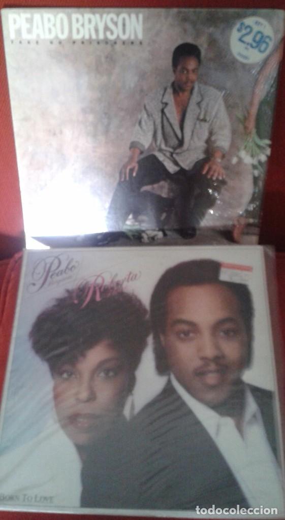 LOTE DE DOS LP AMERICANOS ,PEABO BRYSON Y ROBERTA FLACK AÑOS 80 (Música - Discos - Singles Vinilo - Funk, Soul y Black Music)