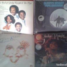 Discos de vinilo: IMPRESIONATE AMANTE DEL SOUL AÑOS60 Y 70 ,LOTE DE 4 LPS DE GLADYS KNIGHT AND THE PIPS ,DIFICILES.. Lote 61397639