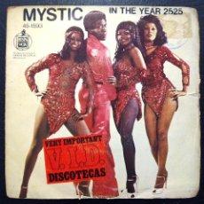 Discos de vinilo: SINGLE MYSTIC - IN THE YEAR 2525 - HISPAVOX 1977.. Lote 61427311