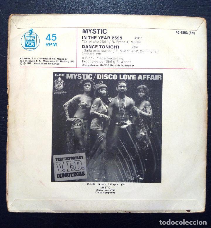Discos de vinilo: SINGLE MYSTIC - IN THE YEAR 2525 - HISPAVOX 1977. - Foto 2 - 61427311