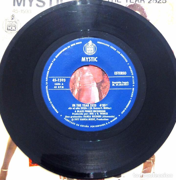 Discos de vinilo: SINGLE MYSTIC - IN THE YEAR 2525 - HISPAVOX 1977. - Foto 3 - 61427311