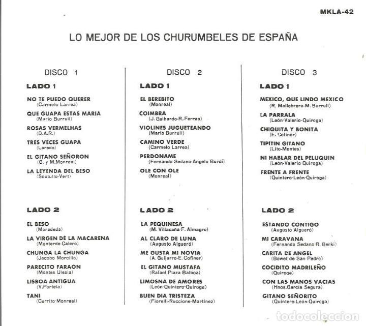 Discos de vinilo: LO MEJOR DE LOS CHURUMBELES DE ESPAÑA ( CAJA CON 3 LP´S ) EDICION MEXICO MKLA 42 - Foto 3 - 61430487
