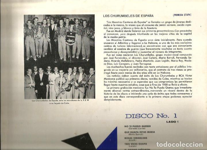 Discos de vinilo: LO MEJOR DE LOS CHURUMBELES DE ESPAÑA ( CAJA CON 3 LP´S ) EDICION MEXICO MKLA 42 - Foto 4 - 61430487