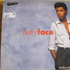 Discos de vinil: LP - BABY FACE - TENDER LOVER (SPAIN, ZAFIRO 1989). Lote 61491727